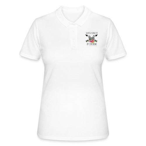 Easily Distracted By Chickens - Women's Polo Shirt