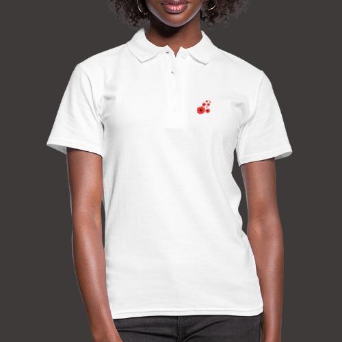 Mohnblüten rot stilisiert, Blumenmotiv - Frauen Polo Shirt