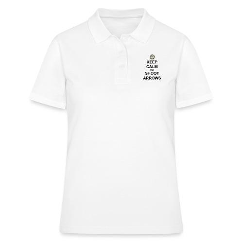 Keep Calm And Shoot Arrows - Svart Text - Women's Polo Shirt