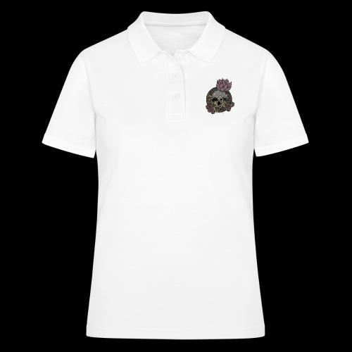Skull tête de mort et fleur de lotus - Women's Polo Shirt