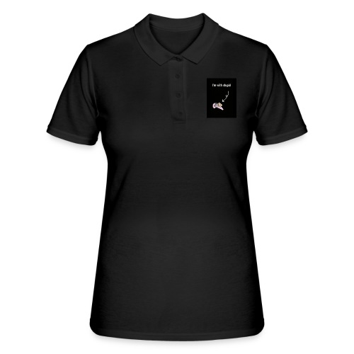 I'm with stupid - Women's Polo Shirt