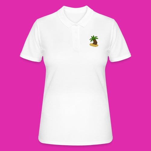 palm tree design - Women's Polo Shirt