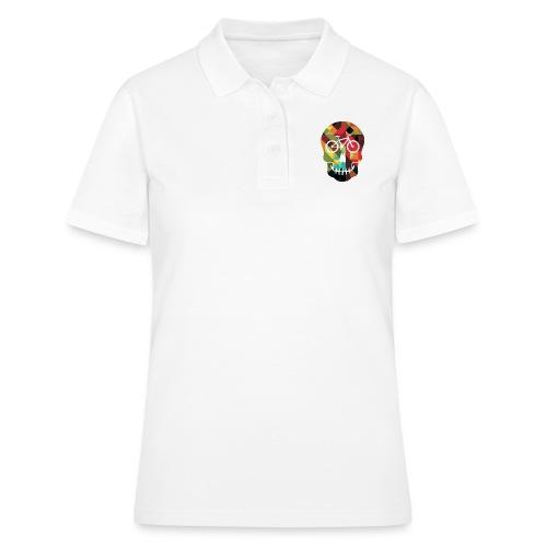Colored Skull of Biker - Women's Polo Shirt
