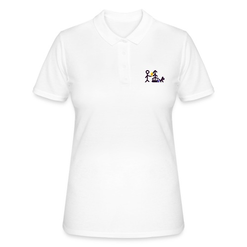 Light Christmas tree - Frauen Polo Shirt