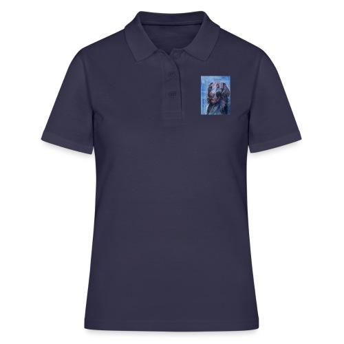 flatcoated retriever - watercolor - Women's Polo Shirt