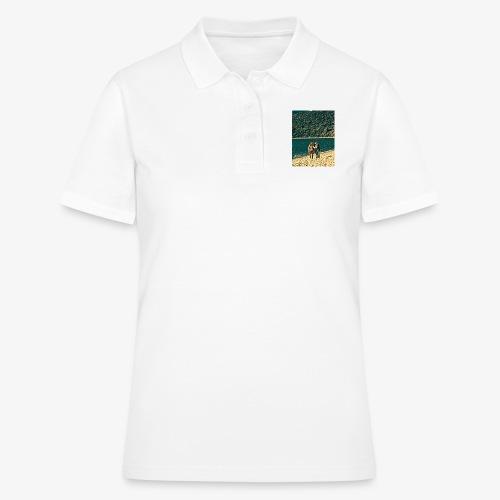 Tre amici sulla spiaggia si fotografano - Women's Polo Shirt