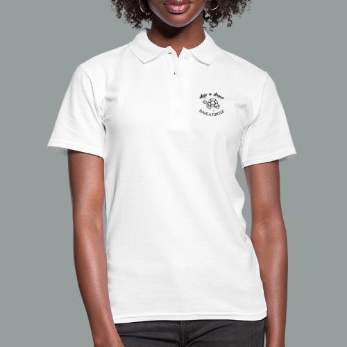skip a straw save a turtle - Frauen Polo Shirt