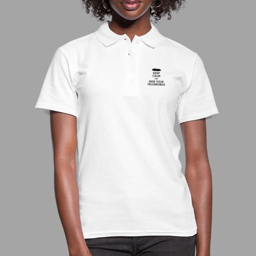 Keep calm and ride your velomobile black - Women's Polo Shirt