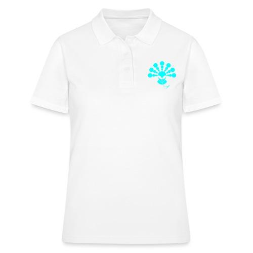 The Smoking Alien Light Blue - Women's Polo Shirt