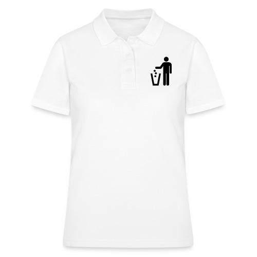 Strichmännchen Mülleimer - Frauen Polo Shirt