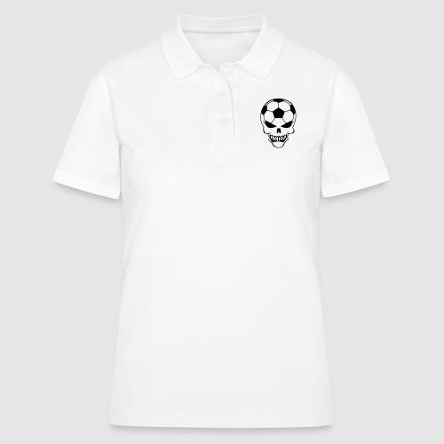 Fußball-Totenkopf - Frauen Polo Shirt