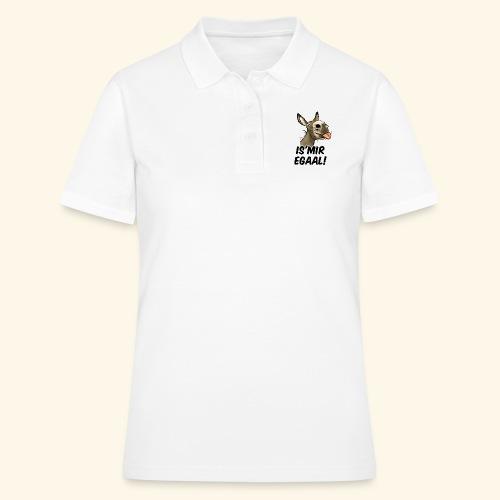 Esel Is'Mir Egaal! (schwartzer text) - Women's Polo Shirt