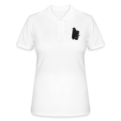 crow and flowers - Women's Polo Shirt
