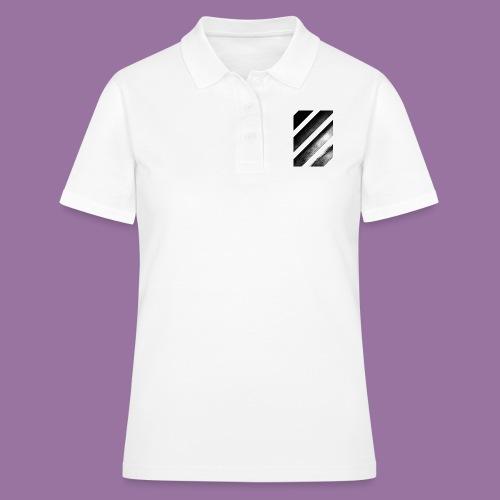 Stripes Diagonal Black - Women's Polo Shirt