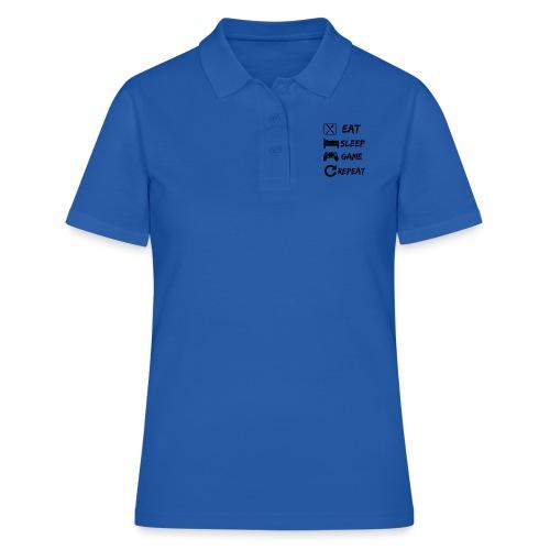 Eat_Sleep_Game_Repeat - Camiseta polo mujer