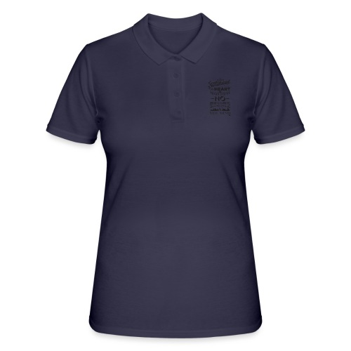 Without the heart black - Women's Polo Shirt