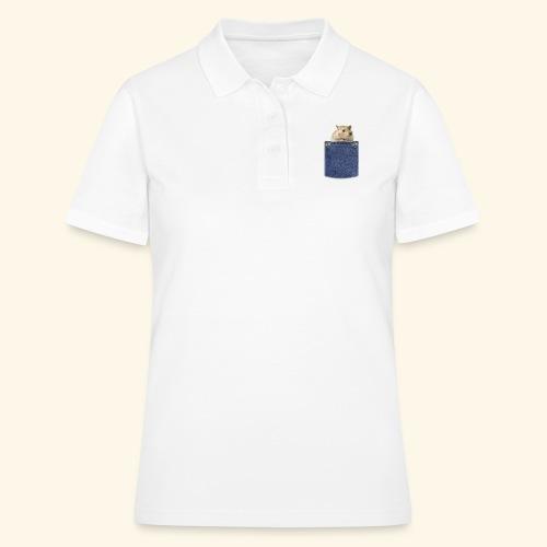 hamster in the poket - Women's Polo Shirt
