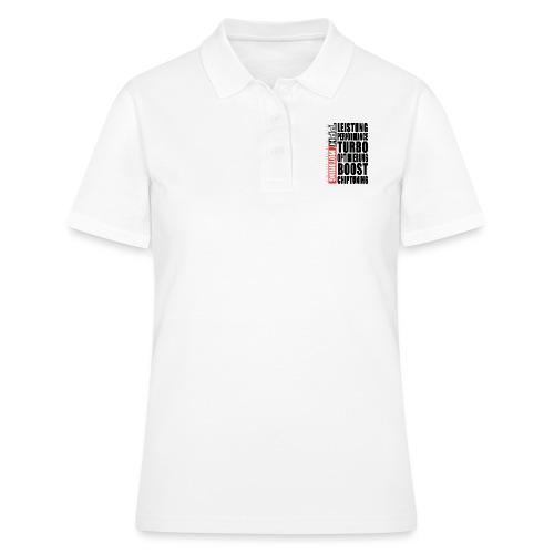 Black PPH V1 Black Front-Print - Frauen Polo Shirt