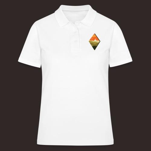 Sonnenuntergang | Wald Dämmerung Raute Baum - Frauen Polo Shirt