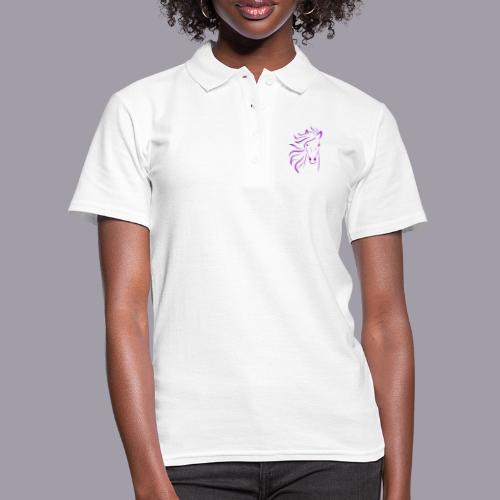 Pferd in einem LilaPink Farbton - Frauen Polo Shirt