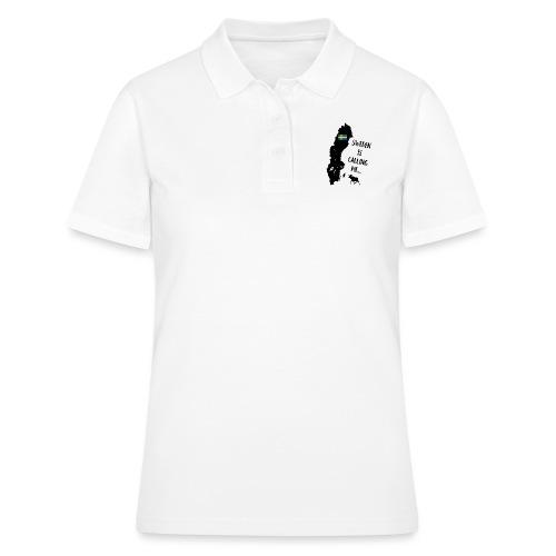 Schweden Flagge Karte Elch Spruch - Frauen Polo Shirt