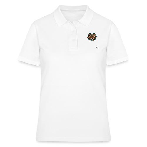 Mallard Duck Heap by BlackenedMoonArts, w. logo - Poloshirt dame