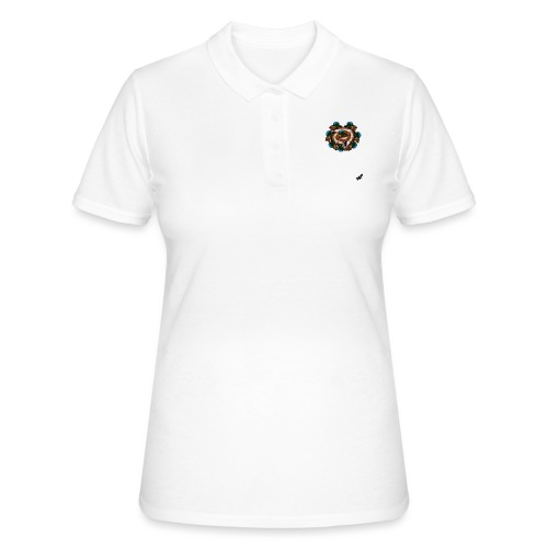 Mallard Duck Heap by BlackenedMoonArts, w. logo - Women's Polo Shirt