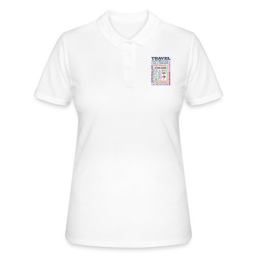 Travel Places design - Women's Polo Shirt