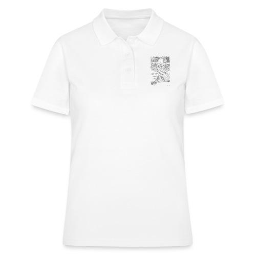 doodle montagna, disegno scena naturale notturna - Women's Polo Shirt