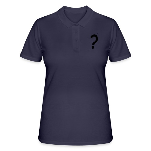 Kysymysmerkki musta - Women's Polo Shirt