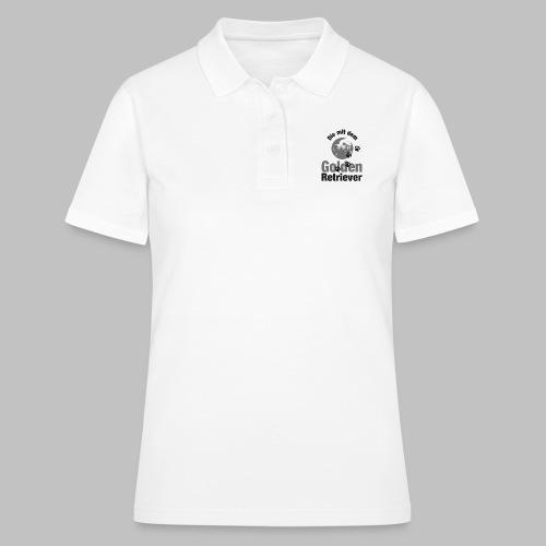 DIE MIT DEM GOLDEN RETRIEVER - Pfotenabdruck Hund - Frauen Polo Shirt