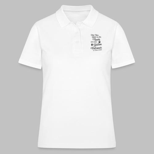 GOLDEN RETRIEVER - Sicher in der Nacht - Black - Frauen Polo Shirt