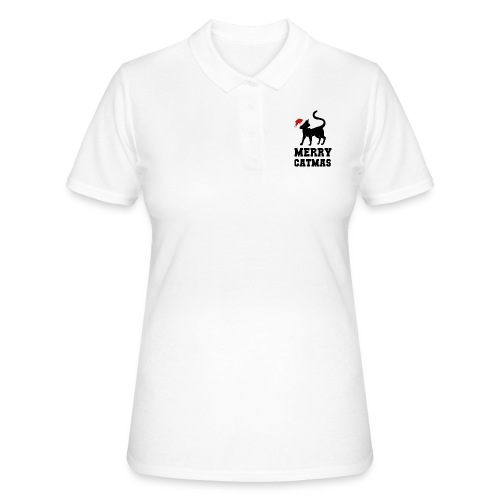 Merry Catmas - Silhouette - Frauen Polo Shirt