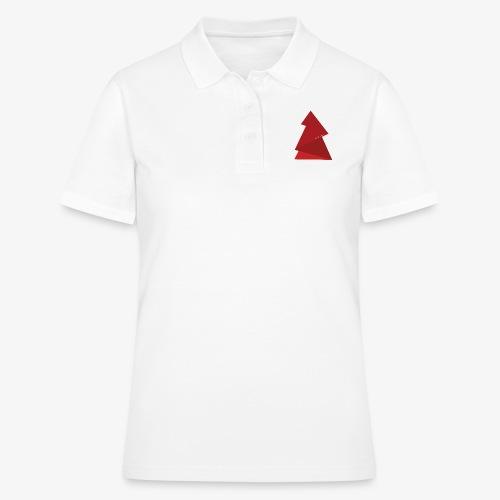 red triangles fir - Women's Polo Shirt