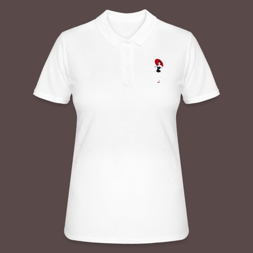 Pin up - Red Umbrella - Women's Polo Shirt