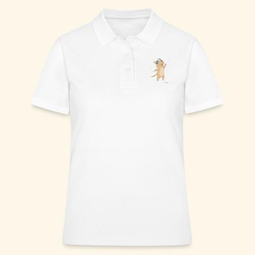 Dog with music - Frauen Polo Shirt