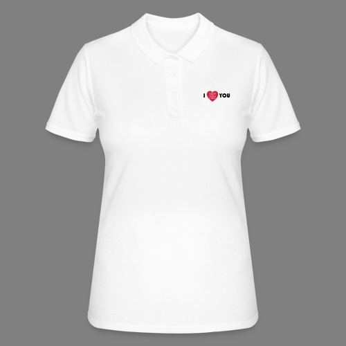 i love you - Frauen Polo Shirt