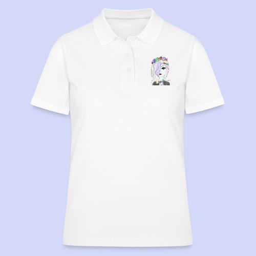 Rainbow flower girl - Female shirt - Women's Polo Shirt
