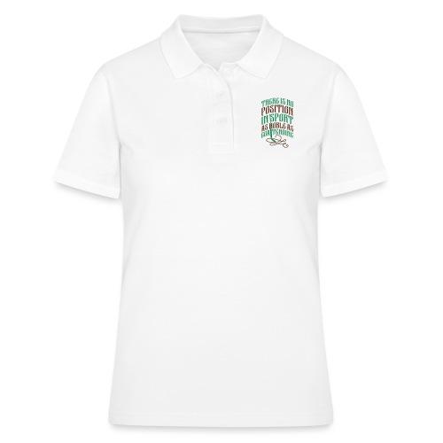 Hockey Goalie, Noble As Goaltending - Women's Polo Shirt