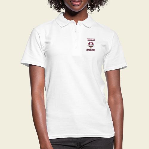 Buch und Kaffee, dunkel - Frauen Polo Shirt