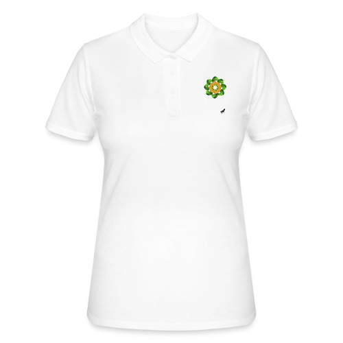 Parrot Pattern by BlackenedMoonArts, w. logo - Women's Polo Shirt