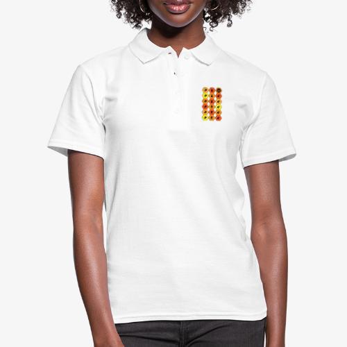 |K·CLOTHES| HEXAGON ESSENCE ORANGES & YELLOW - Women's Polo Shirt