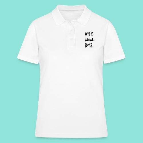 wife mom boss - Women's Polo Shirt