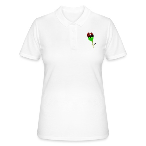 Lovebirds by BlackenedMoonArts, w. logo - Women's Polo Shirt