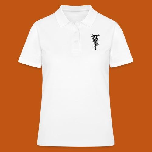 Skater / Skateboarder 02_schwarz - Frauen Polo Shirt