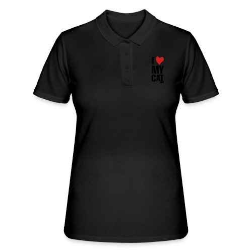 I_LOVE_MY_CAT-png - Women's Polo Shirt