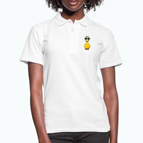 Gigi Giraffe with sunglasses - Appelsin - Women's Polo Shirt