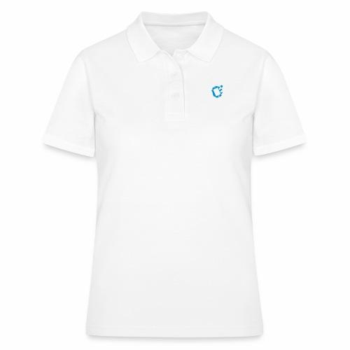 Smartphone-Tennis Logo Print - Frauen Polo Shirt