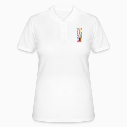 Pride Word Design - Women's Polo Shirt