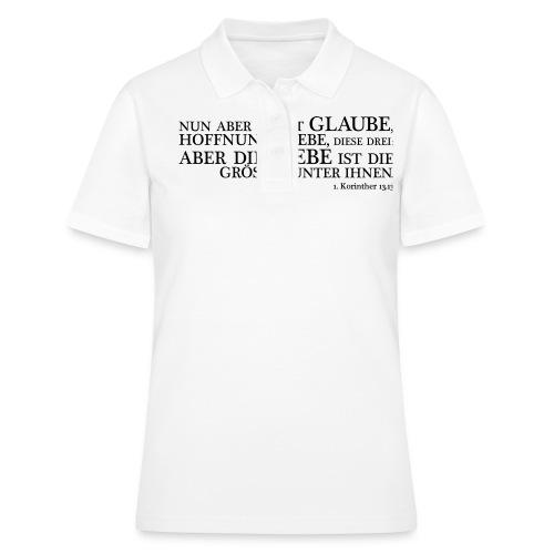 Taufspruch Glaube Hoffnung Liebe - Frauen Polo Shirt